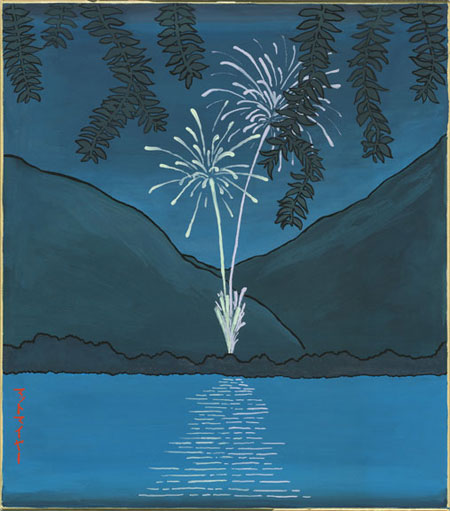 Fireworks Over Hino River