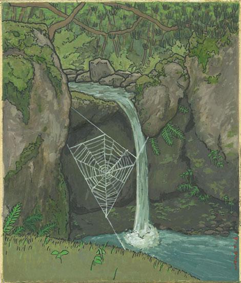 Spiderweb in Ajimano Gardens