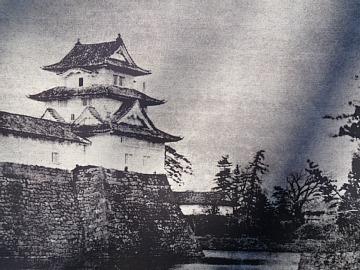 Old photo of Fukui Castle